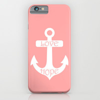 Anchor Coral Pink iPhone & iPod Case by BeautifulHomes