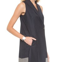 Pinstripe Tux Dress