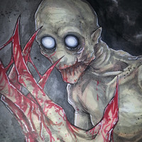 The Rake Creepypasta Original Art Chris Oz Fulton