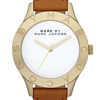 MARC BY MARC JACOBS &#x27;Large Blade&#x27; Leather Strap Watch | Nordstrom