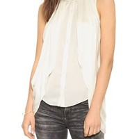 Crosby Cowled Side Button Down Tank