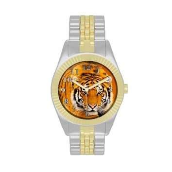 Siberian Tiger Two-Tone Watch
