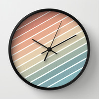 Whitby Row Boats IV Wall Clock by Distractedgraphics