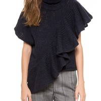 Sleeveless Ruffle Turtleneck