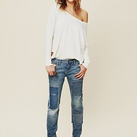 Free People Patched Skinny Jean