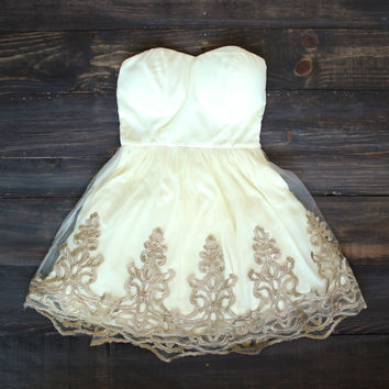 Vintage inspired golden dress