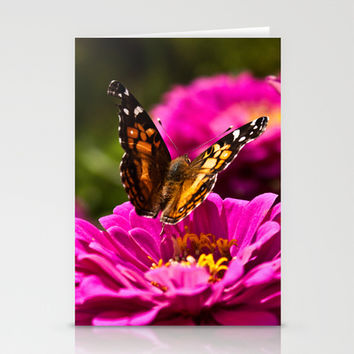A butterfly flaps its wings Stationery Cards by Legends of Darkness Photography