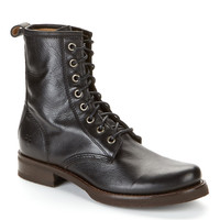 Frye Veronica Combat Leather Boots Shoes 3476276-BLK at BareNecessities.com