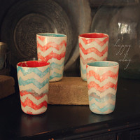 Tall Tumbler Ikaat Chevron