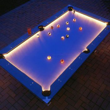 Illuminated Pool Table - Opulentitems.com