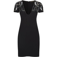 Roberto Cavalli Embellished Sleeve Mini Dress