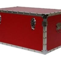 The Classic Red College Trunk Stuff For College Fun Dorm Items Useful College Supplies Footlockers Dorm Life