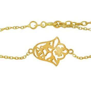 SKU Jewelry Gold Plated Filigree Bracelet