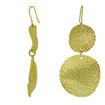 SKU Jewelry Gold Hammered Earrings
