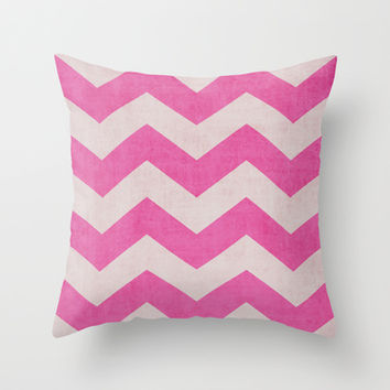 Candy Stripe Throw Pillow by The Dreamery