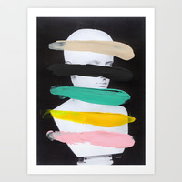 Untitled (Finger Paint 1) Art Print by Chad Wys
