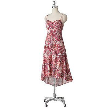 LC Lauren Conrad Floral Hi-Low Dress