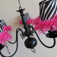 Zebra Chandelier by 2 Girls Forever on Etsy