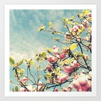 Pink Blooms Art Print by simplyhue | Society6