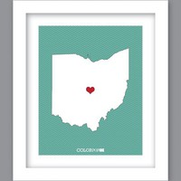 SALE 25% OFF - Ohio State Art Print (8X10)