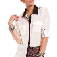 Business School Blouse in White :: tobi