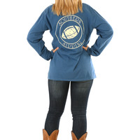 Southern Sippin': Football Shirt: Cornflower