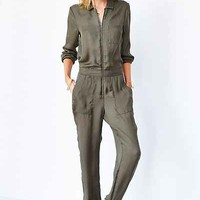 Silence + Noise Silky Flight Jumpsuit - Urban Outfitters