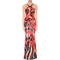 Flames printed jersey dress