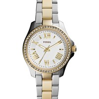 Fossil Women's Mini Cecile Two-Tone Stainless Steel Bracelet Watch 29mm AM4579