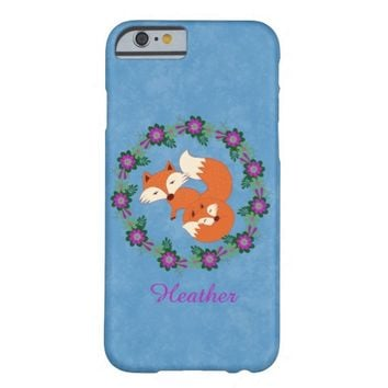 Fun Red Foxes Design iPhone 6 Barely There Case