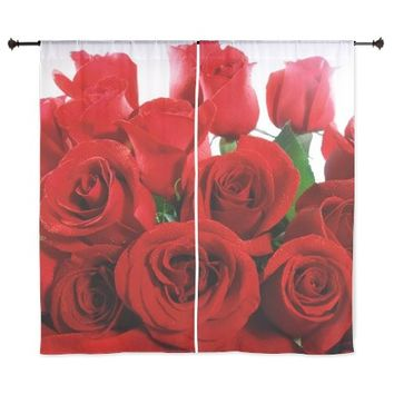 """Red Roses 60"""" Curtains"""
