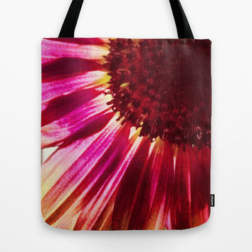 Pink Sunflower Tote Bag by Legends of Darkness Photography