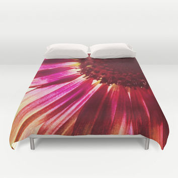 Pink Sunflower Duvet Cover by Legends of Darkness Photography