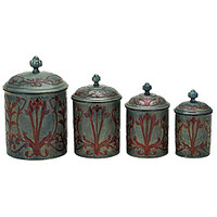 Art Nouveau Canister (Set of 4)