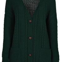 Rosie Soft Knit Cable Boyfriend Cardigan
