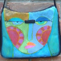 Hand Painted Handbag Hand Painted P.. on Luulla