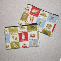 Pair of Zippered Pouches