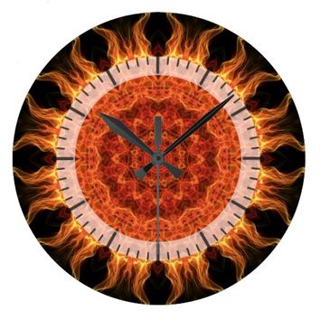 flaming mandala