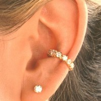 Classy Golden Ear Cuff, Pair or Singles Available (No Piercing!)