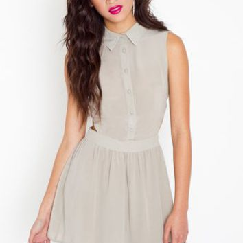Waisted Silk Dress