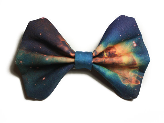 Galaxy Printed Hair Bow (S, M, or L) (version 2)