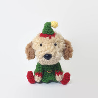 Elf Stuffed Dog Crochet Puppy Custom Amigurumi Christmas Decoration - Choose a Breed / Made to Order