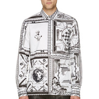 Versus White And Black Anthony Vaccarello Edition Shirt