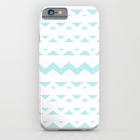 Turquoise Aqua Blue Tribal Triangles iPhone & iPod Case by BeautifulHomes | Society6
