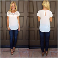 Great Beyond Lace Detailed Blouse - WHITE