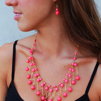 Cosmic Love Necklace - Peach
