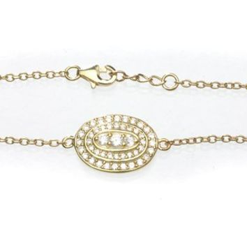 SKU Jewelry Gold Plated Bracelet with CZs