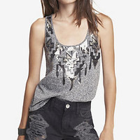 EMBELLISHED AZTEC PRINT TANK from EXPRESS