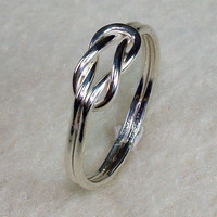 Mini Celtic Love Knot Ring with Argentium Silver
