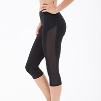 Power-Mesh Paneled Capris